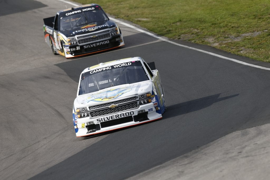 BOWMANVILLE, ON - AUGUST 30:   prepares during practice for the NASCAR Camping World Truck Series Silverado 250 at Canadian Tire Motorsport Park on August 30, 2014 in Bowmanville, Ontario, Canada. (Photo by Jeff Zelevansky/NASCAR via Getty Images)
