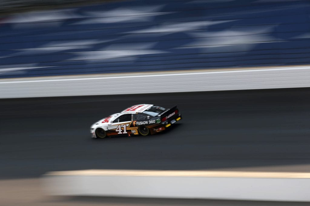 INDIANAPOLIS, INDIANA - JULY 05:  Cole Custer, driver of the #41 Ford, drives during the NASCAR Cup Series Big Machine Hand Sanitizer 400 Powered by Big Machine Records at Indianapolis Motor Speedway on July 05, 2020 in Indianapolis, Indiana. (Photo by Chris Graythen/Getty Images)   Getty Images