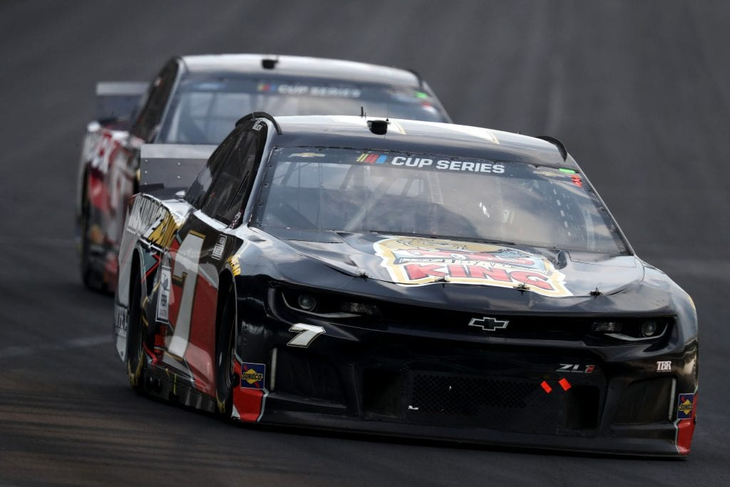 INDIANAPOLIS, INDIANA - JULY 05:  Josh Bilicki, driver of the #7 Chevrolet, drives during the NASCAR Cup Series Big Machine Hand Sanitizer 400 Powered by Big Machine Records at Indianapolis Motor Speedway on July 05, 2020 in Indianapolis, Indiana. (Photo by Jamie Squire/Getty Images)   Getty Images