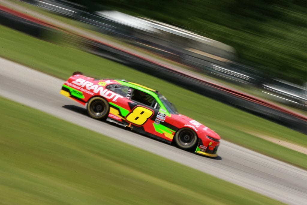 LEXINGTON, OHIO - JUNE 05: Miguel Paludo, driver of the #8 BRANDT Chevrolet, drives during the NASCAR Xfinity Series B&L Transport 170 at Mid-Ohio Sports Car Course on June 05, 2021 in Lexington, Ohio. (Photo by Sean Gardner/Getty Images)   Getty Images