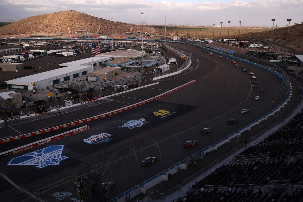 AVONDALE, ARIZONA - NOVEMBER 07: A general view of the track during the NASCAR Xfinity Series Desert Diamond Casino West Valley 200 at Phoenix Raceway on November 07, 2020 in Avondale, Arizona. (Photo by Christian Petersen/Getty Images)   Getty Images