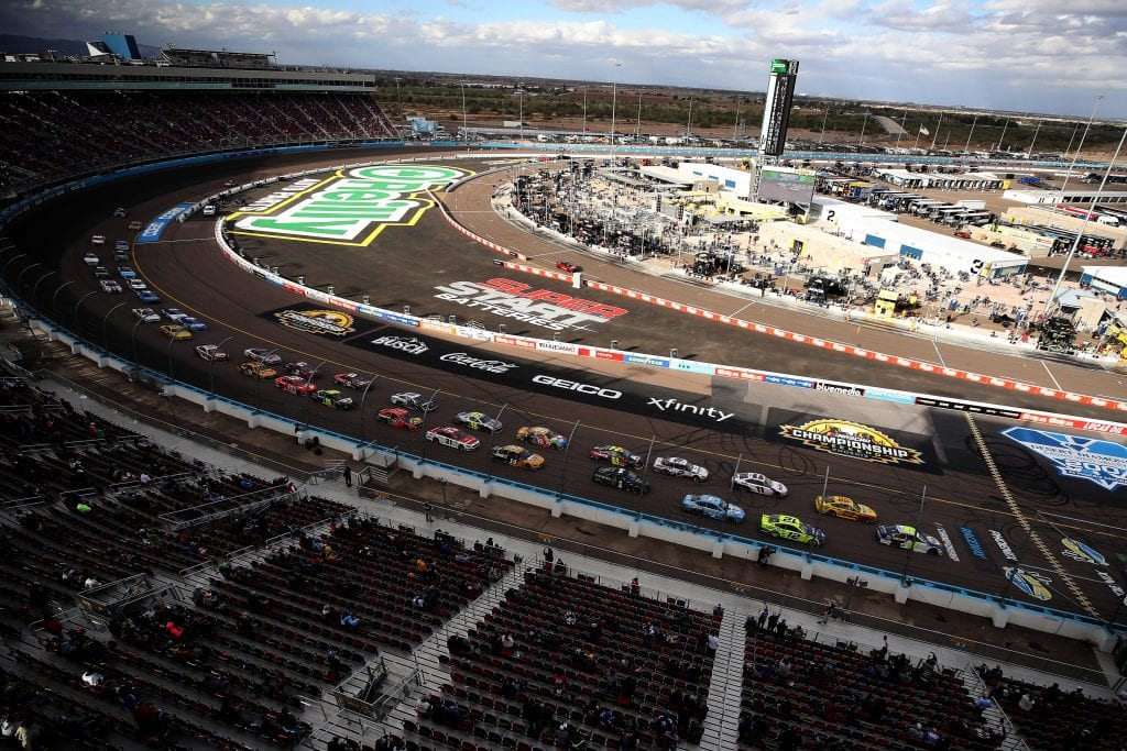 AVONDALE, ARIZONA - NOVEMBER 08: A general view of the NASCAR Cup Series Season Finale 500 at Phoenix Raceway on November 08, 2020 in Avondale, Arizona. (Photo by Christian Petersen/Getty Images)   Getty Images