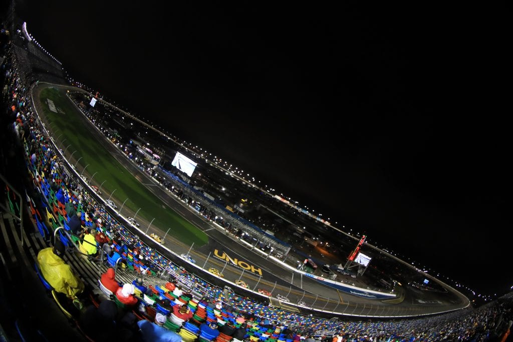 DAYTONA BEACH, FLORIDA - FEBRUARY 14: A general view of the track during the NASCAR Cup Series 63rd Annual Daytona 500 at Daytona International Speedway on February 14, 2021 in Daytona Beach, Florida. (Photo by Mike Ehrmann/Getty Images) | Getty Images