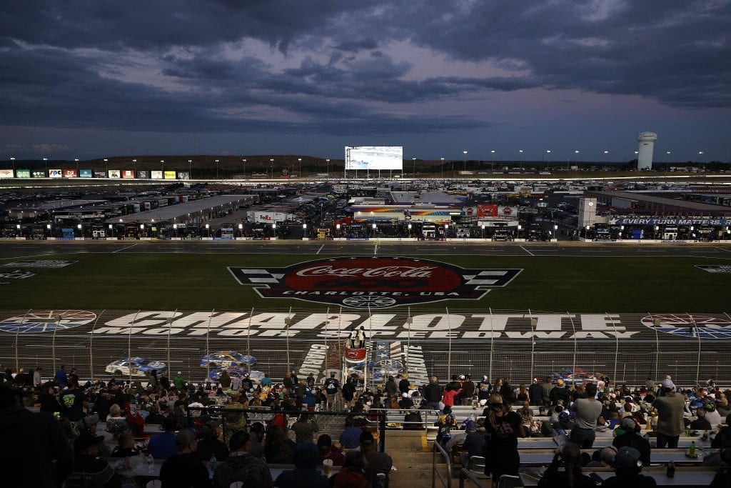 CONCORD, NORTH CAROLINA - MAY 30: A general view of the race from the grandstands during the NASCAR Cup Series Coca-Cola 600 at Charlotte Motor Speedway on May 30, 2021 in Concord, North Carolina. (Photo by Maddie Meyer/Getty Images) | Getty Images
